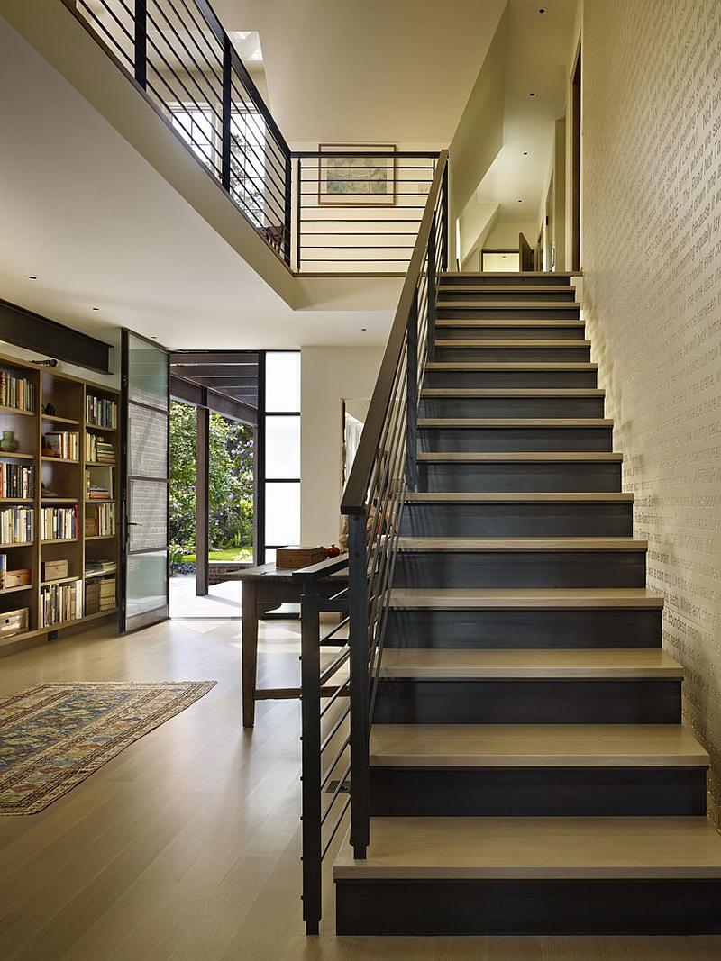 adelaparvu.com despre casa in stil Tudor cu biblioteci frumoase, arhitectura DeForest Architects, design interior NB Design, Foto Benjamin Benschneider (8)