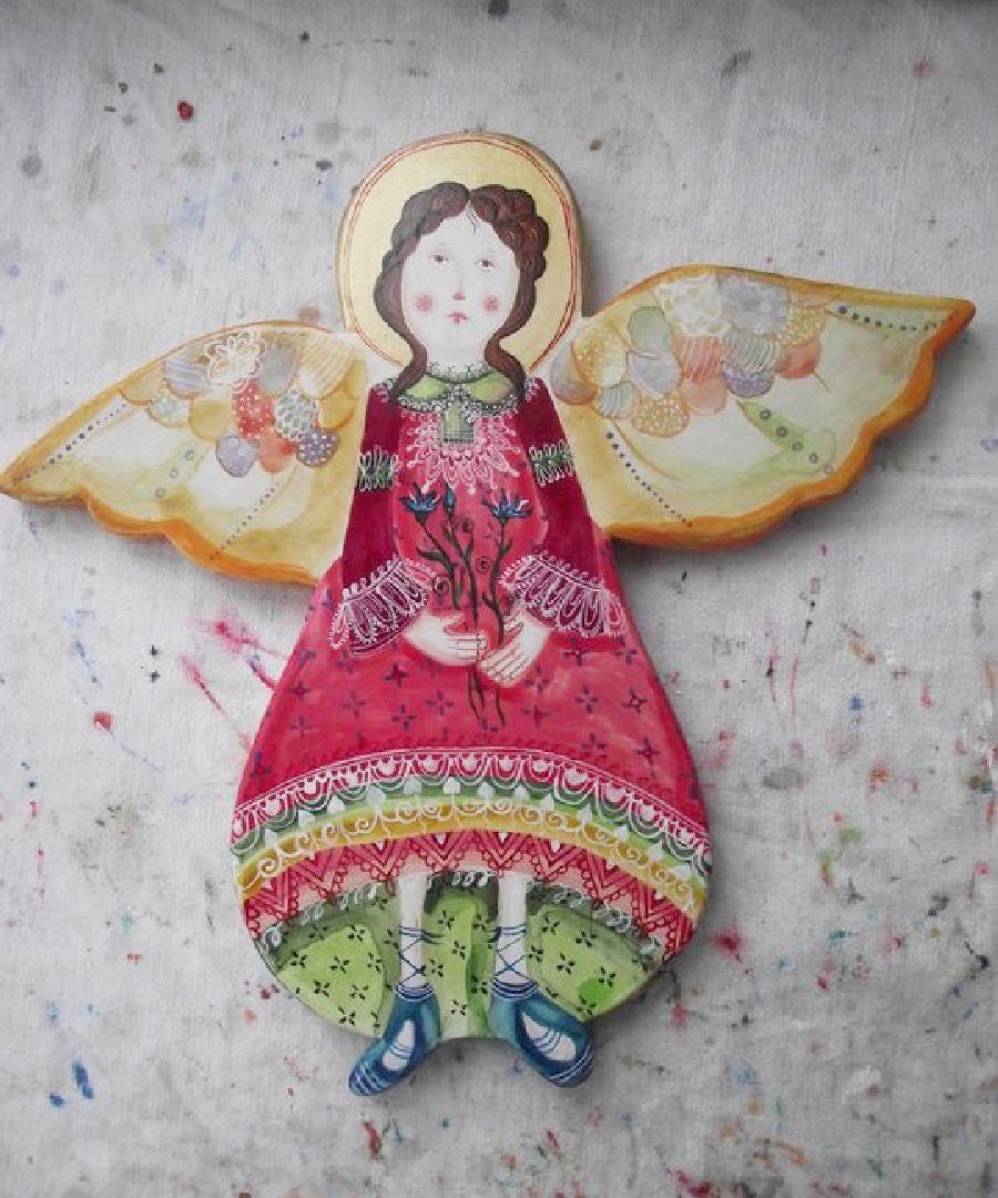 adelaparvu.com despre ingeri pictati, ingeri din lemn, artist Beatrice Iordan (10)