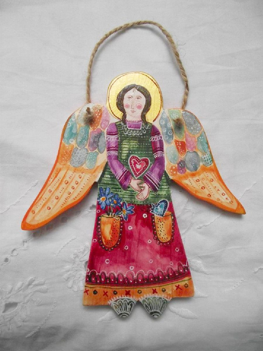 adelaparvu.com despre ingeri pictati, ingeri din lemn, artist Beatrice Iordan (20)