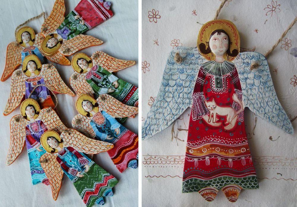 adelaparvu.com despre ingeri pictati, ingeri din lemn, artist Beatrice Iordan (215)