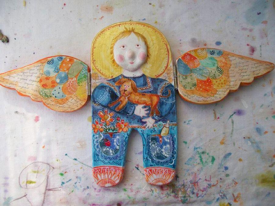 adelaparvu.com despre ingeri pictati, ingeri din lemn, artist Beatrice Iordan (25)