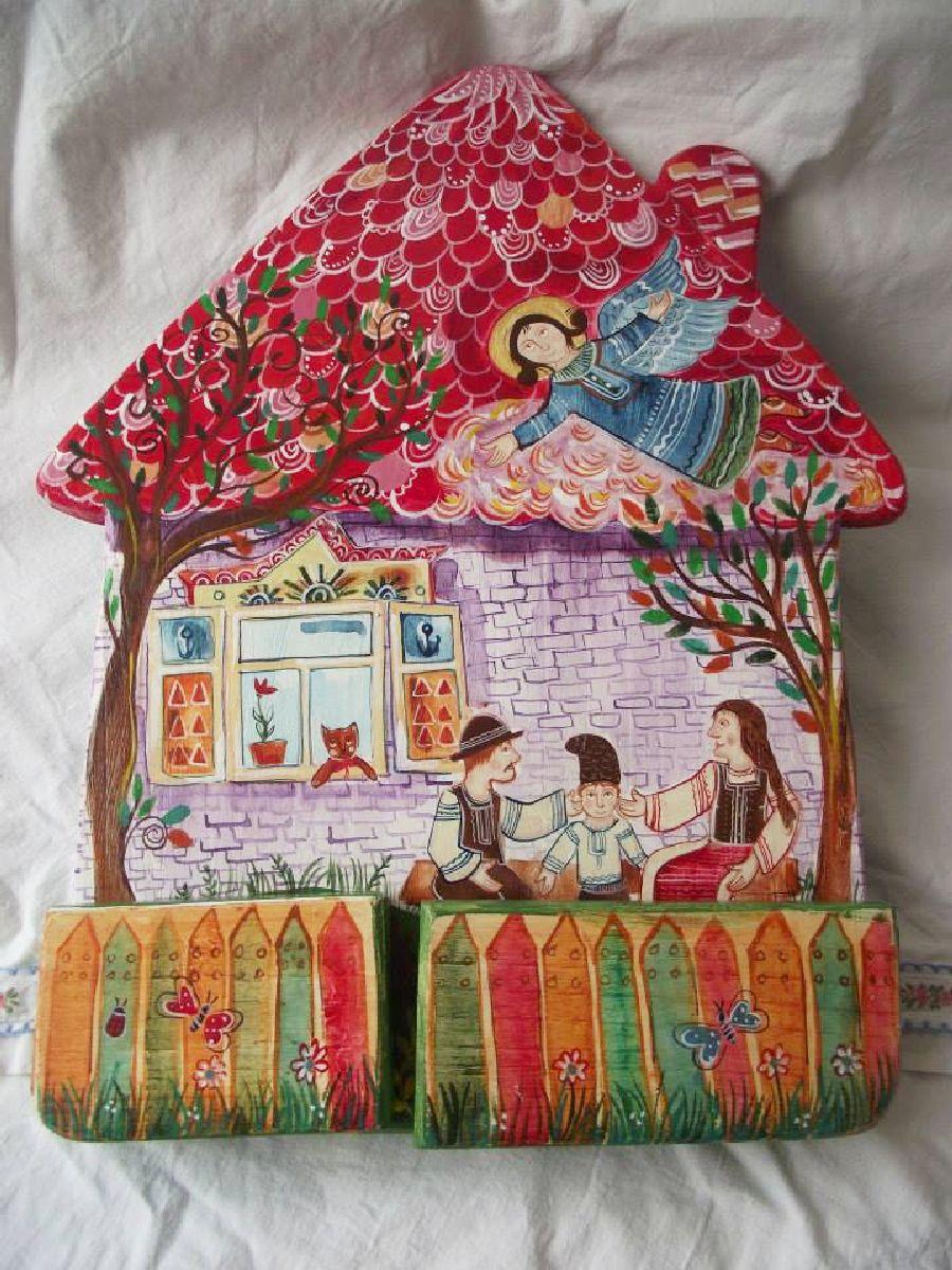 adelaparvu.com despre ingeri pictati, ingeri din lemn, artist Beatrice Iordan (28)