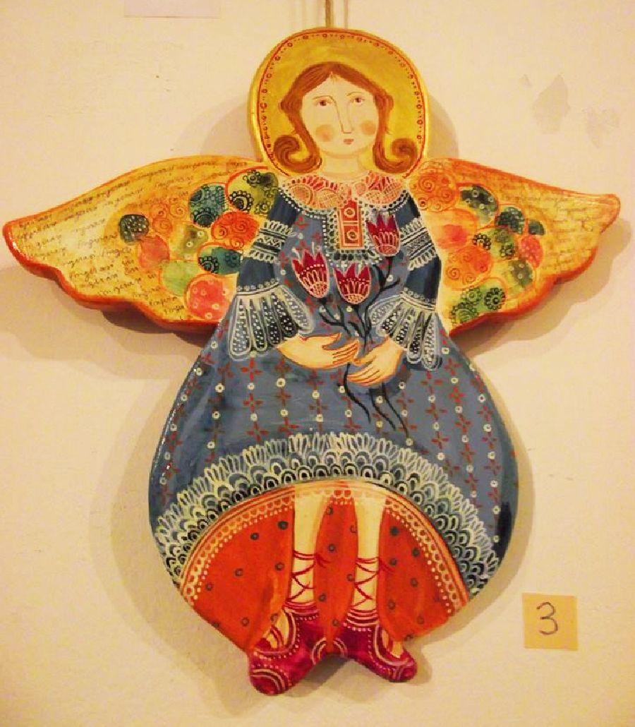 adelaparvu.com despre ingeri pictati, ingeri din lemn, artist Beatrice Iordan (34)