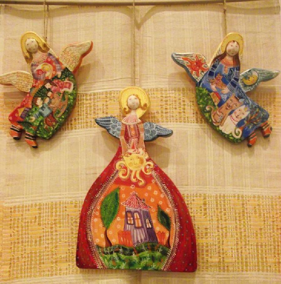 adelaparvu.com despre ingeri pictati, ingeri din lemn, artist Beatrice Iordan (35)