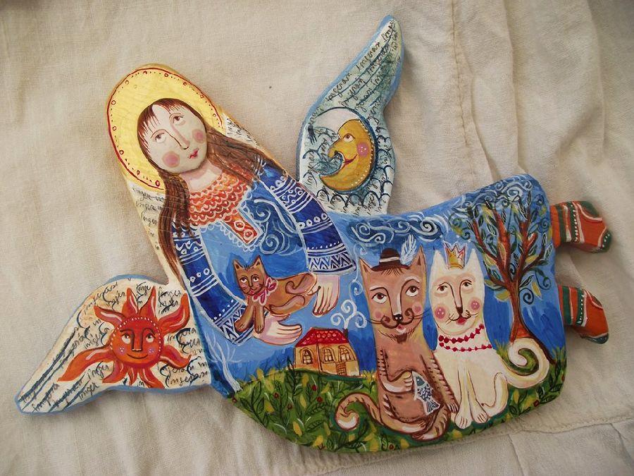 adelaparvu.com despre ingeri pictati, ingeri din lemn, artist Beatrice Iordan (39)