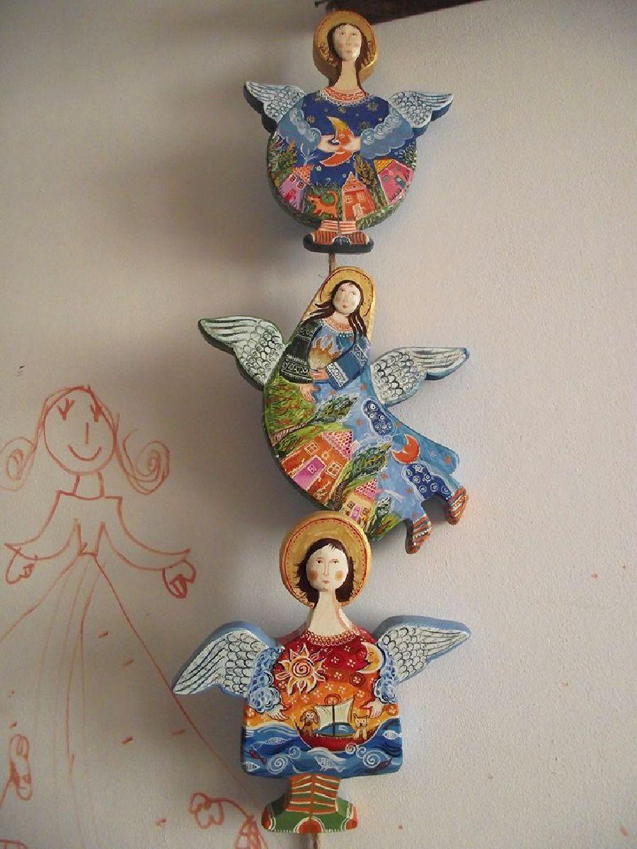 adelaparvu.com despre ingeri pictati, ingeri din lemn, artist Beatrice Iordan (41)
