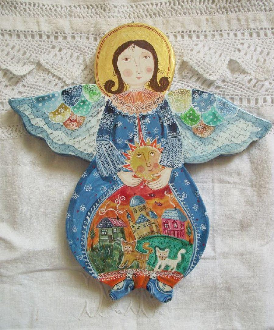 adelaparvu.com despre ingeri pictati, ingeri din lemn, artist Beatrice Iordan (44)