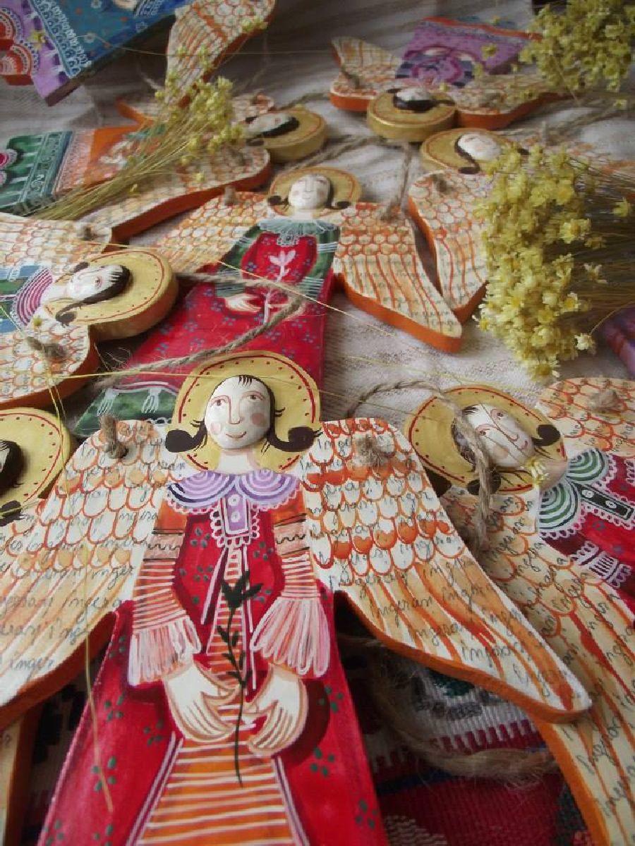adelaparvu.com despre ingeri pictati, ingeri din lemn, artist Beatrice Iordan (48)