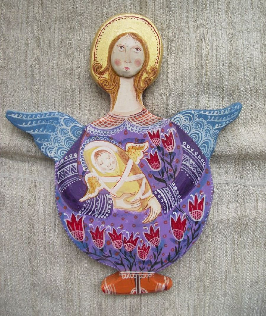 adelaparvu.com despre ingeri pictati, ingeri din lemn, artist Beatrice Iordan (49)