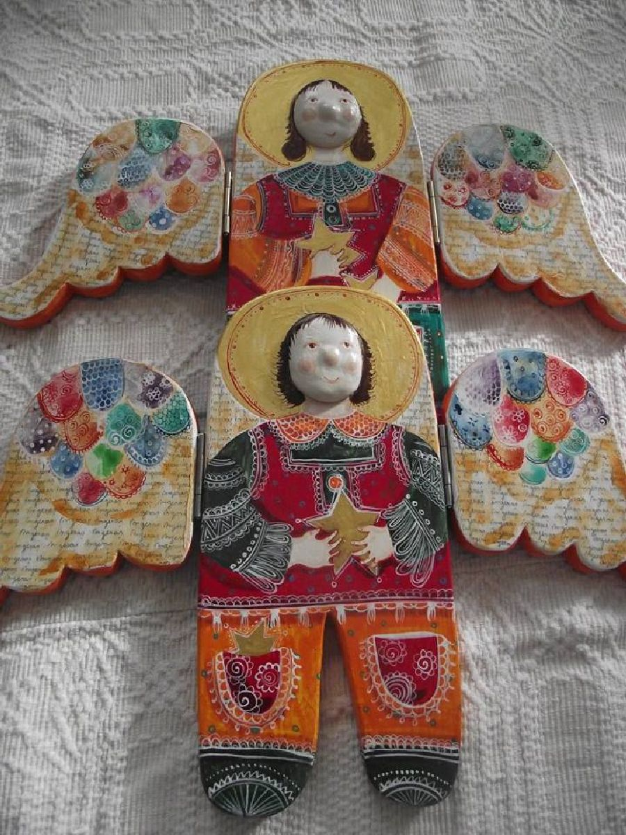 adelaparvu.com despre ingeri pictati, ingeri din lemn, artist Beatrice Iordan (52)