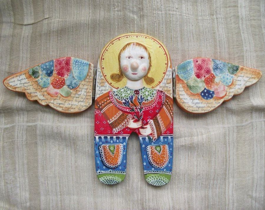 adelaparvu.com despre ingeri pictati, ingeri din lemn, artist Beatrice Iordan (53)