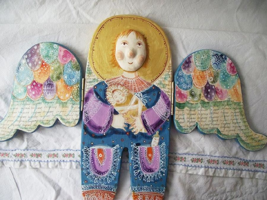 adelaparvu.com despre ingeri pictati, ingeri din lemn, artist Beatrice Iordan (54)