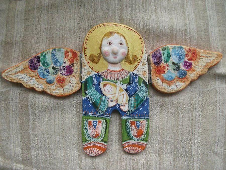 adelaparvu.com despre ingeri pictati, ingeri din lemn, artist Beatrice Iordan (55)