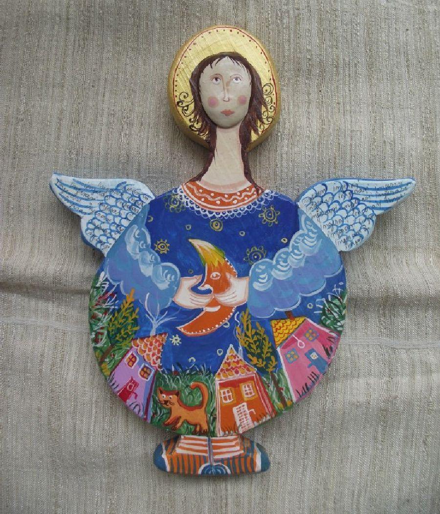 adelaparvu.com despre ingeri pictati, ingeri din lemn, artist Beatrice Iordan (58)