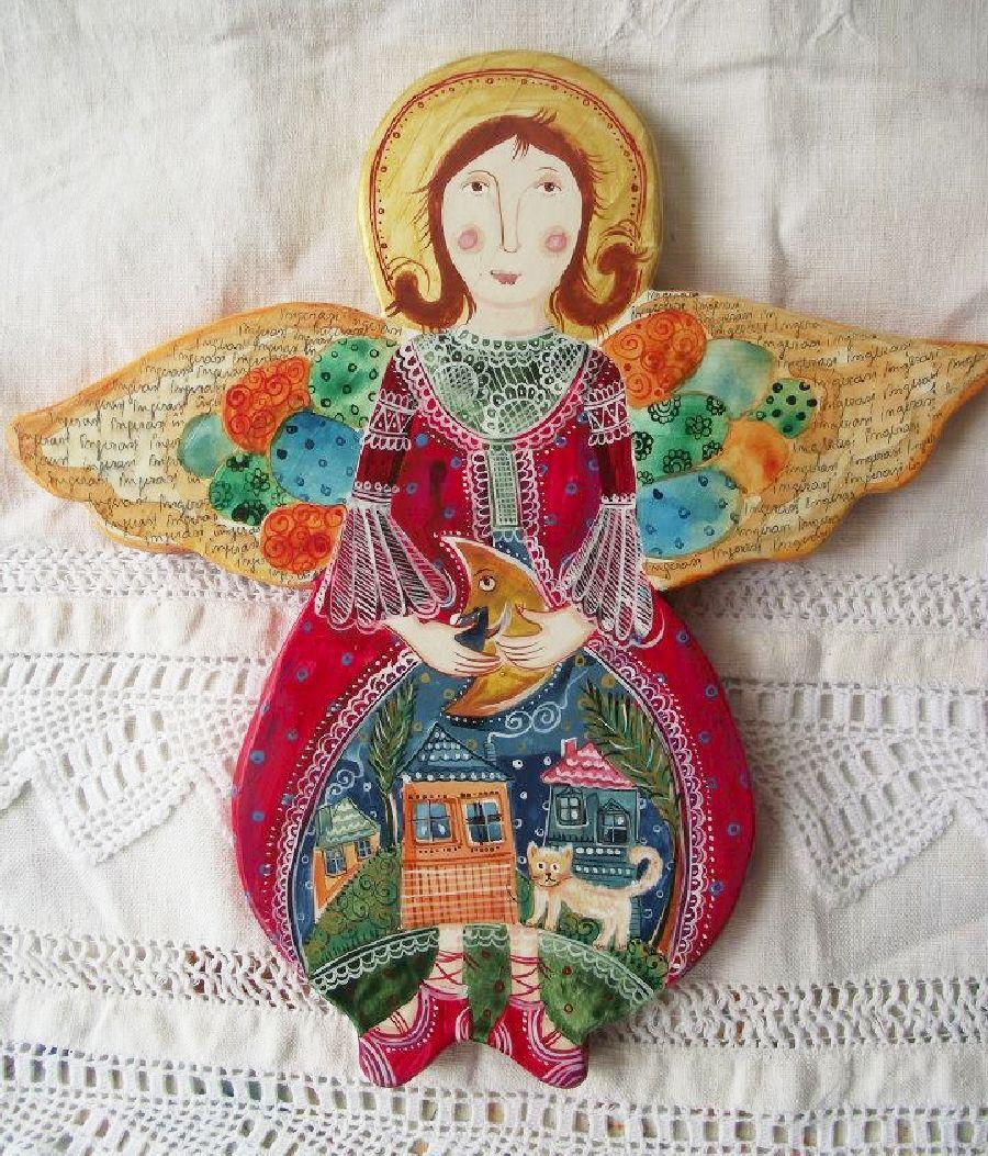 adelaparvu.com despre ingeri pictati, ingeri din lemn, artist Beatrice Iordan (59)
