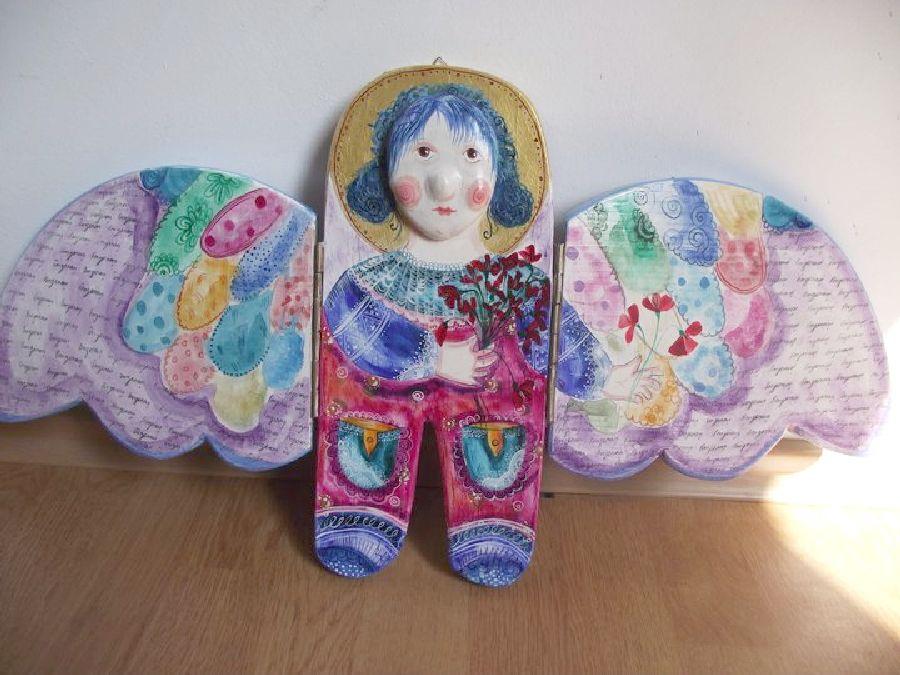 adelaparvu.com despre ingeri pictati, ingeri din lemn, artist Beatrice Iordan (6)