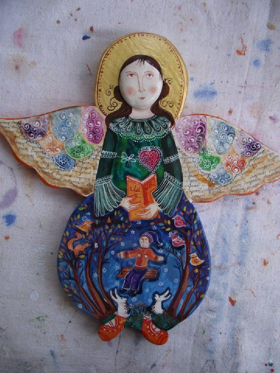 adelaparvu.com despre ingeri pictati, ingeri din lemn, artist Beatrice Iordan (62)