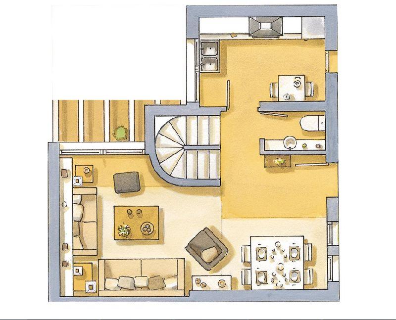 adelaparvu.com despre locuinta de 65 de mep pe doua niveluri, Foto ElMueble (8)