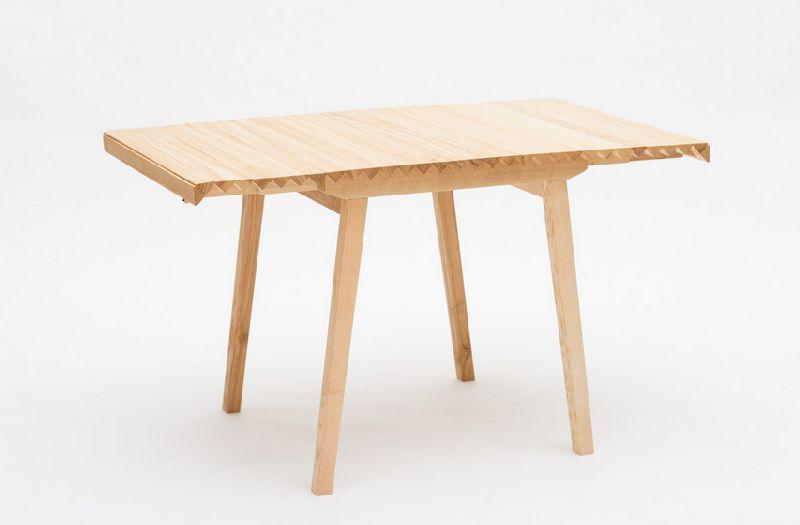 adelaparvu.com despre masa cu fata reglabila, Wooden Clothe, design Nathalie Dackelid  (1)