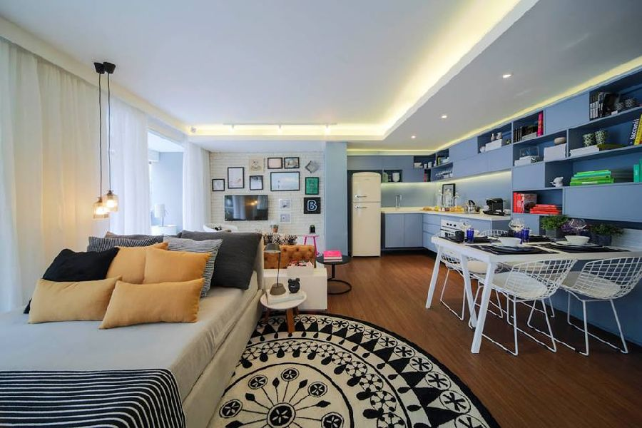 adelaparvu.com despre pat in living, design interior Fernanda Marques (1)