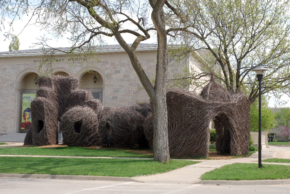 artist Patrick Dougherty, lucrare Hedging Your Bets