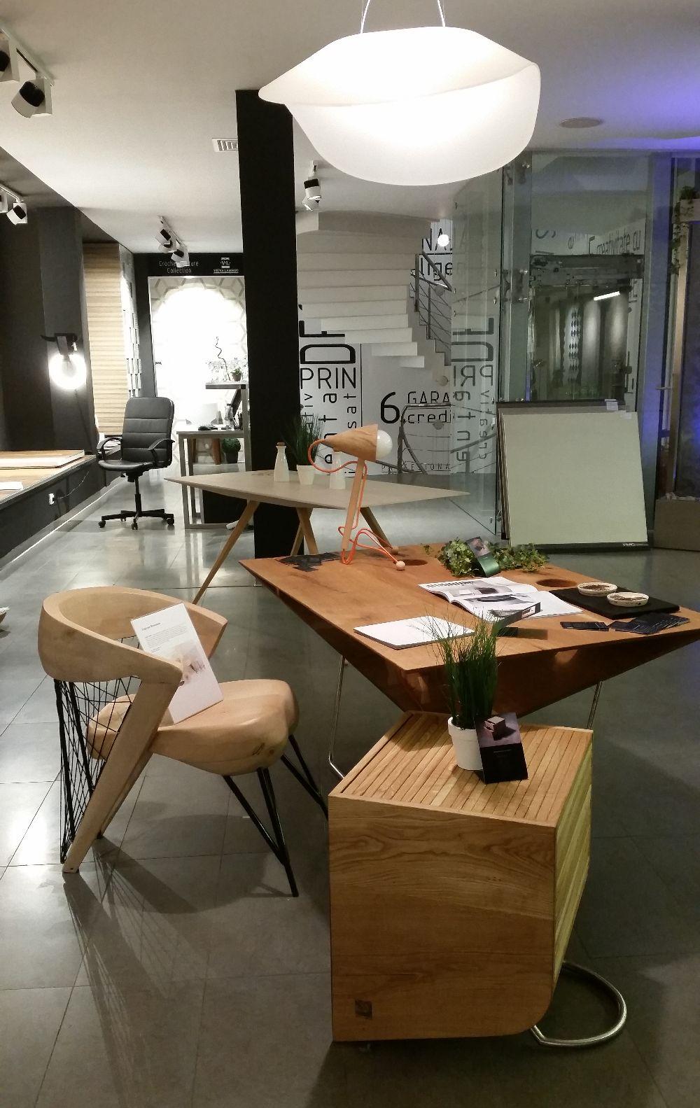 adelaparvu.com despre Delta Design Expo 2015, Scaun Beniamin Zagrean, masa Silva Artis