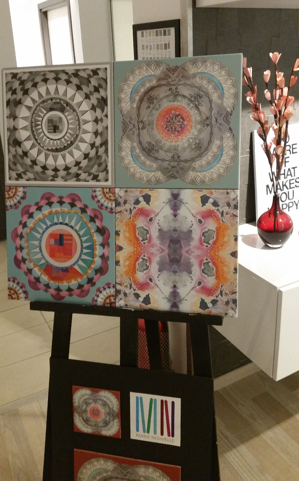 adelaparvu.com despre Delta Design Expo 2015, placi ceramice Marie Nouvelle, designer Maria Dermengiu 2