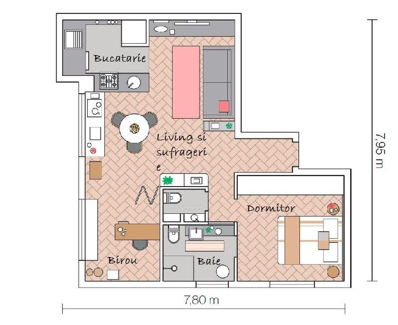 adelaparvu.com despre apartament de 58 mp, design interior Mayra Navarro (6)