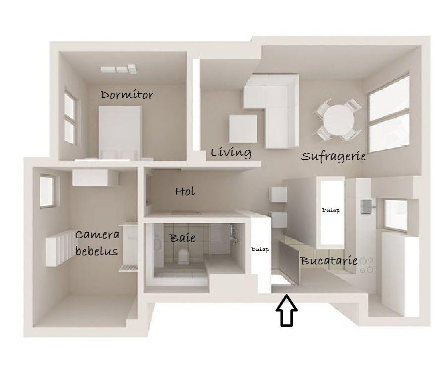 adelaparvu.com despre apartament de trei camere, 55 mp, design interior Aparicium Studio (22)