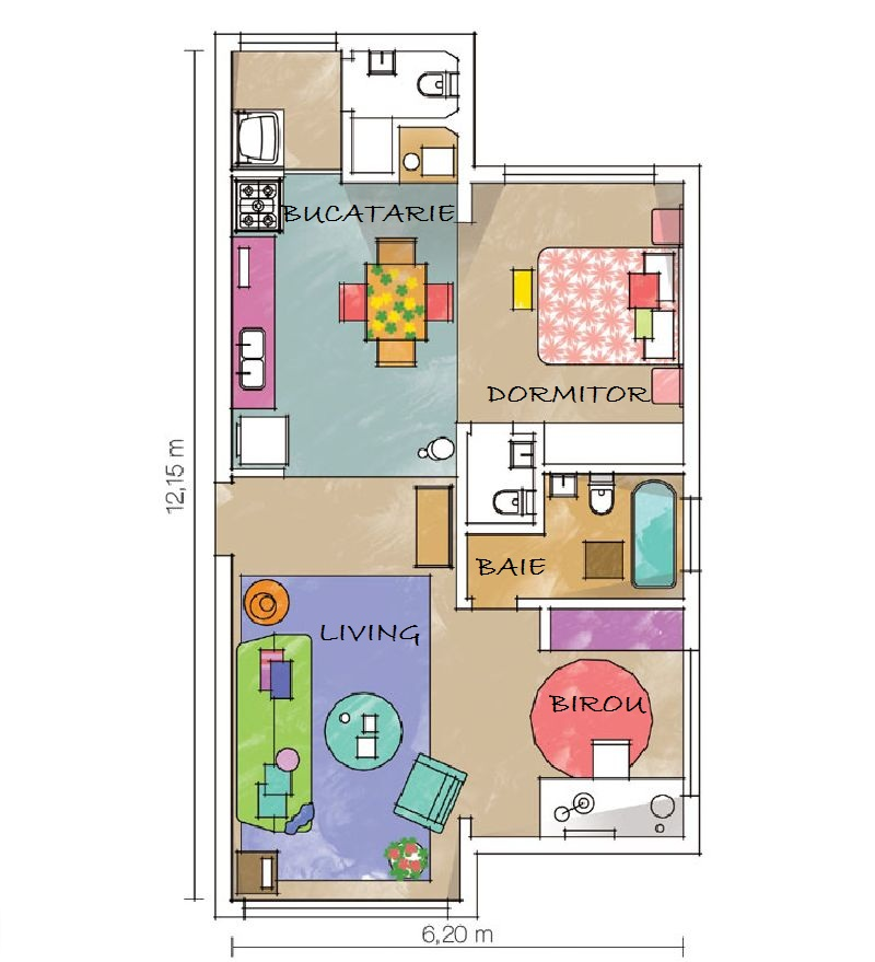 adelaparvu.com despre apartament mic si colorat, design interior Adriana Yazbek, Foto Casa Claudia (10)