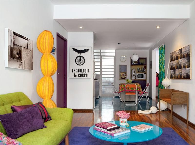 adelaparvu.com despre apartament mic si colorat, design interior Adriana Yazbek, Foto Casa Claudia (5)