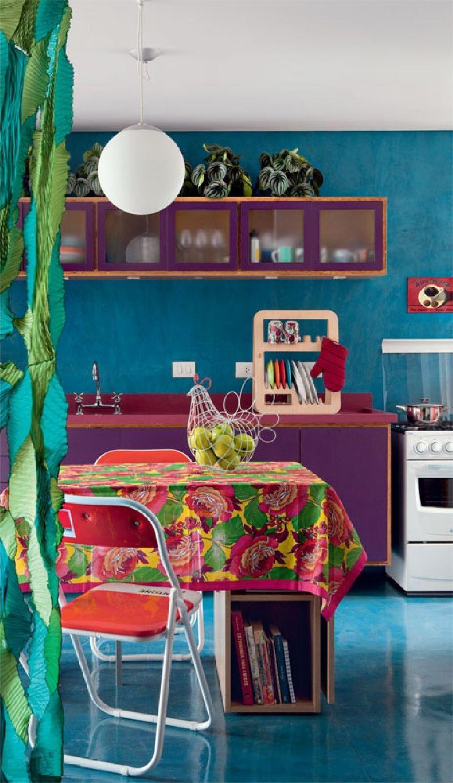 adelaparvu.com despre apartament mic si colorat, design interior Adriana Yazbek, Foto Casa Claudia (6)