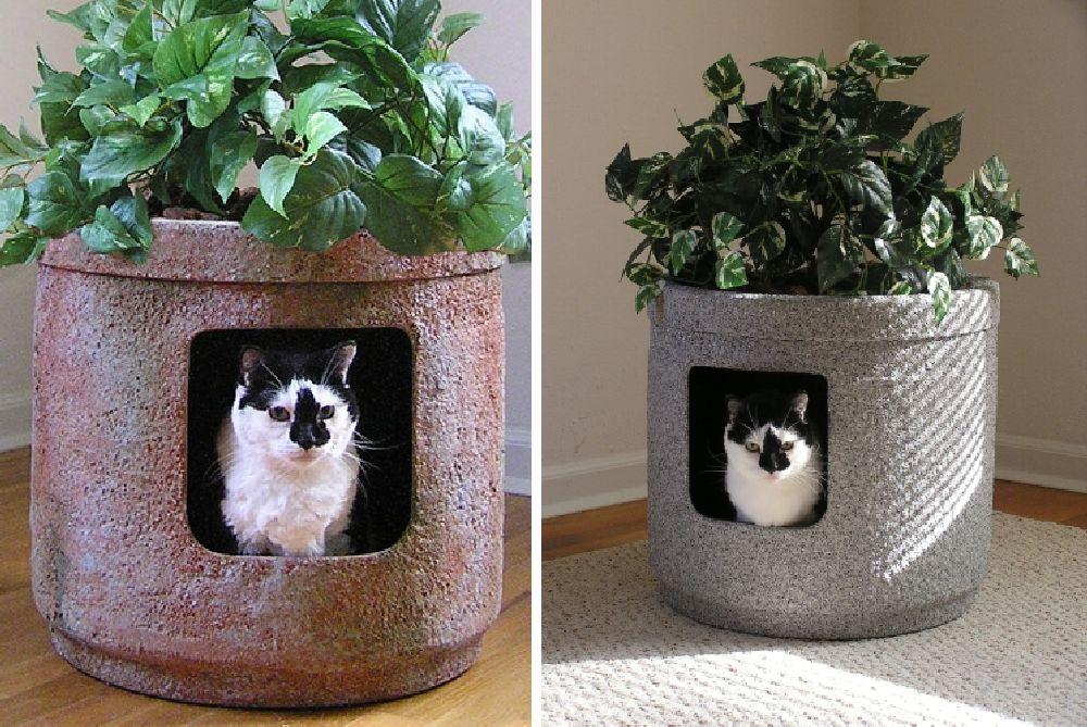 adelaparvu.com despre litiera ca un ghiveci de flori, The Hidden Litter Box, design Ron Evans (3)