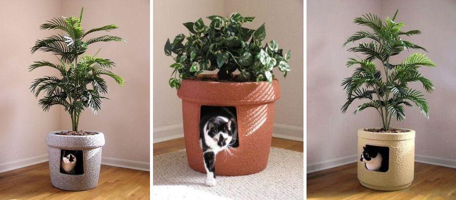 adelaparvu.com despre litiera ca un ghiveci de flori, The Hidden Litter Box, design Ron Evans (4)