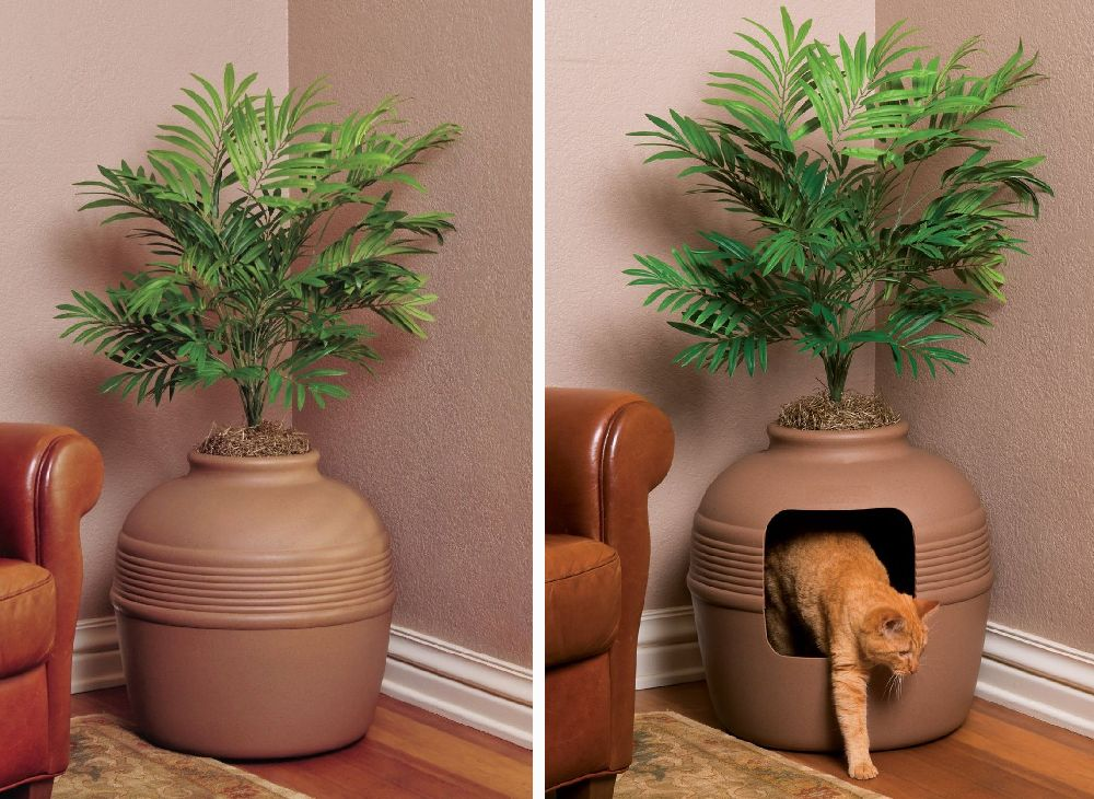 adelaparvu.com despre litiera ca un ghiveci de flori, The Hidden Litter Box, design Ron Evans (5)