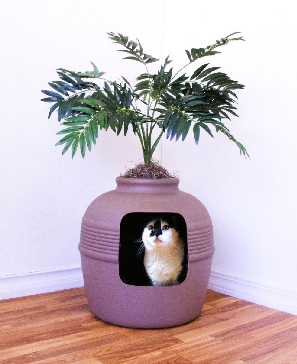 adelaparvu.com despre litiera ca un ghiveci de flori, The Hidden Litter Box, design Ron Evans (7)