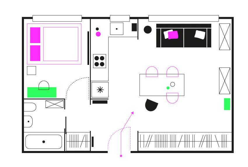 adelaparvu.com despre locuinta 36 mp, design interior Mortis Design, Joanna K. Jurga si Martyn Ochojska (10)
