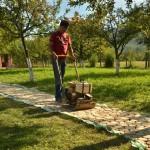 adelaparvu.com despre alei de gradina cu rondele din lemn de salcam, Foto Dan Bersan, Pensiunea Magnolia (12)