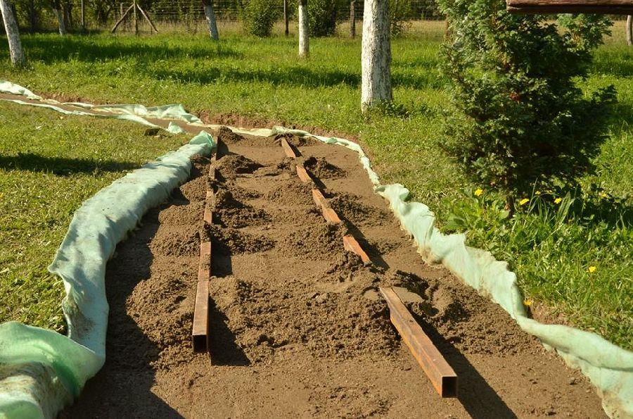 adelaparvu.com despre alei de gradina cu rondele din lemn de salcam, Foto Dan Bersan, Pensiunea Magnolia (5)