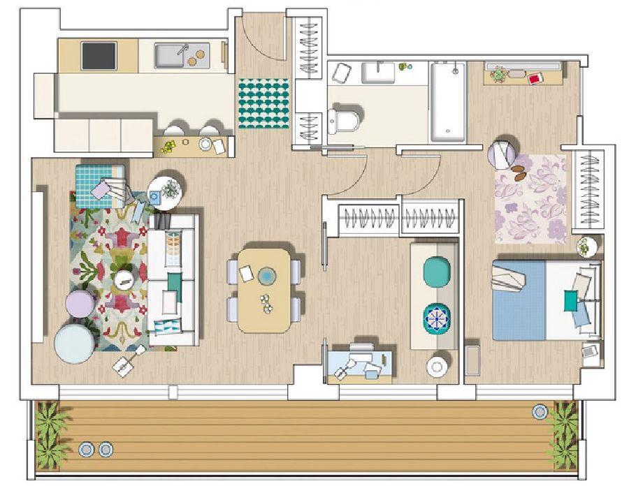 adelaparvu.com despre apartament cu aer mediteranean, design interior Meritxell Ribe (17)