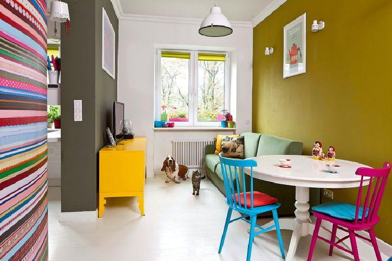 adelaparvu.com despre apartament mic si colorat, design interior Agata Debicka Cieszynska, Twin Pigs  (3)
