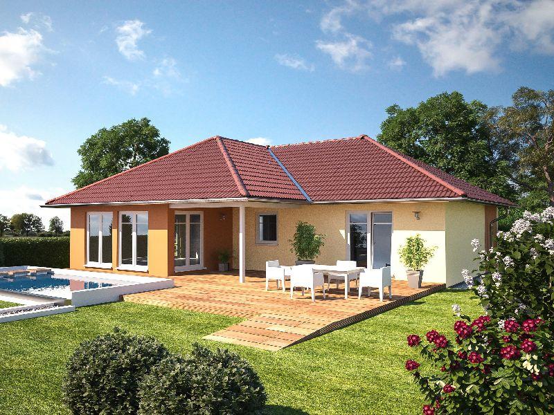 Proiecte de case cu un singur nivel i suprafe e ntre 87 for Case parter 3 camere