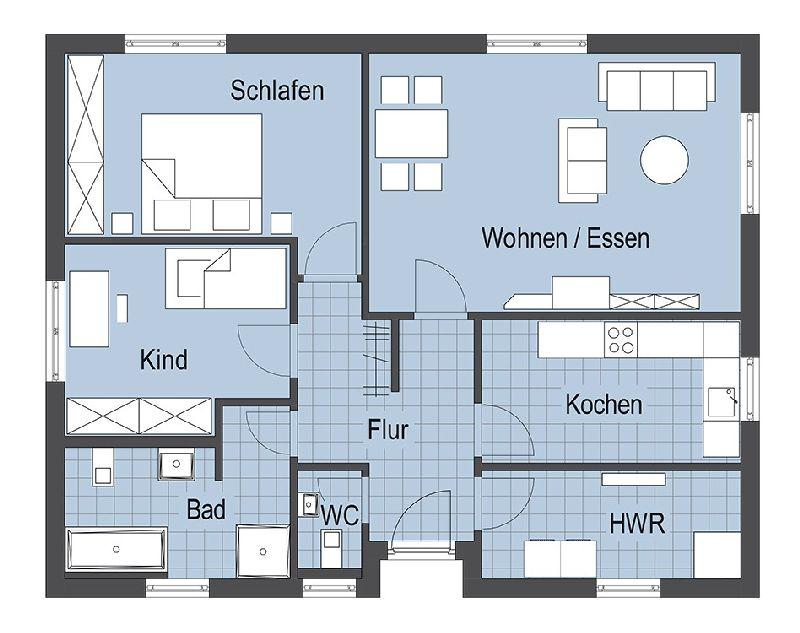 Model casa Top Star 93, Suprafata 111 mp, 3 camere, Proiect Hanlo