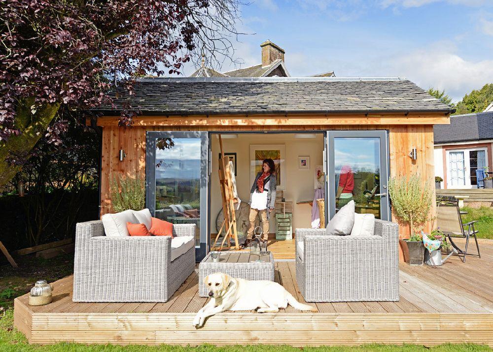 adelaparvu.com despre casuta de gradina atelier de pictura, foto JML Garden Room  (1)