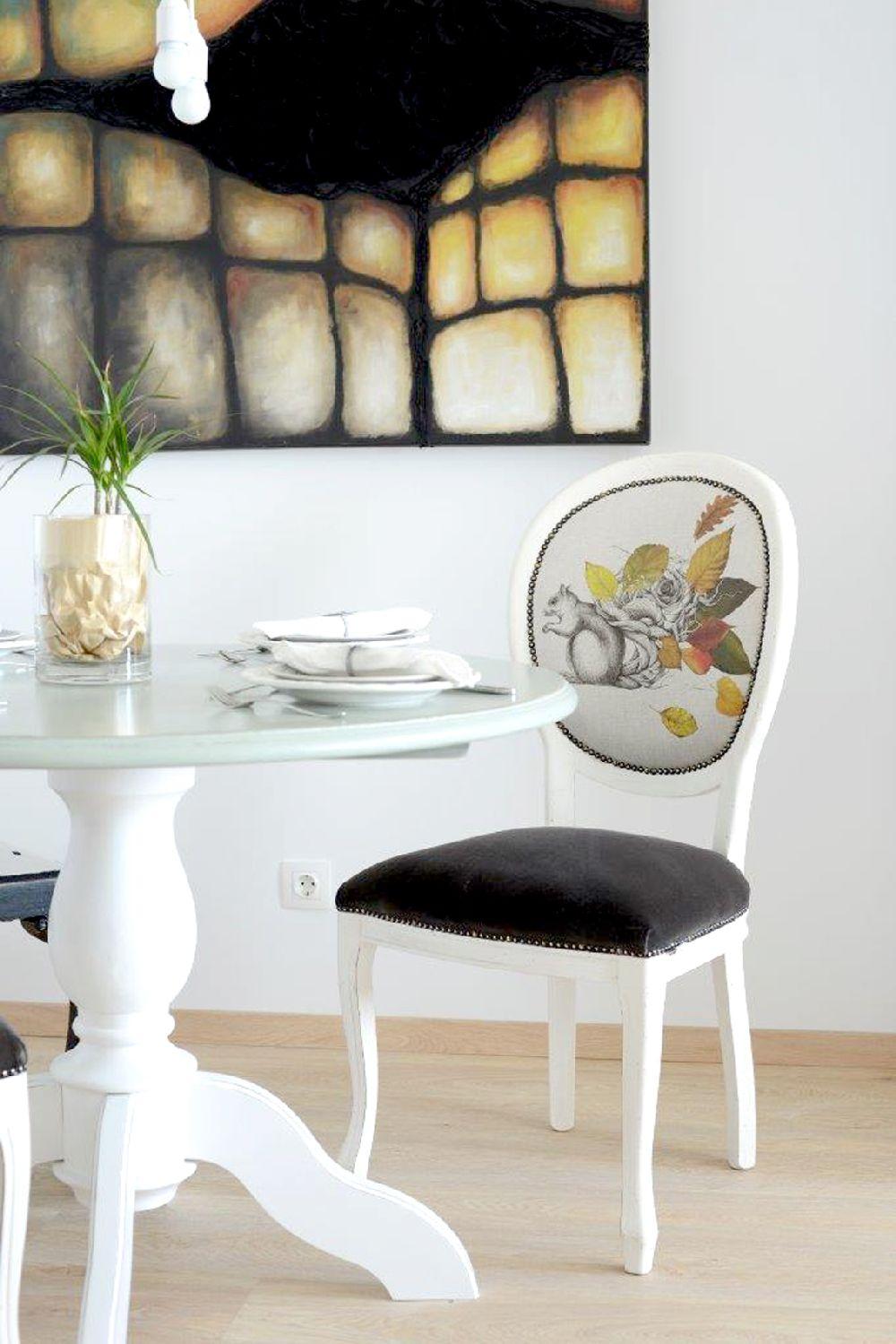 Amenajare si scaun designer Irina Neacsu, Foto Elle Decoration