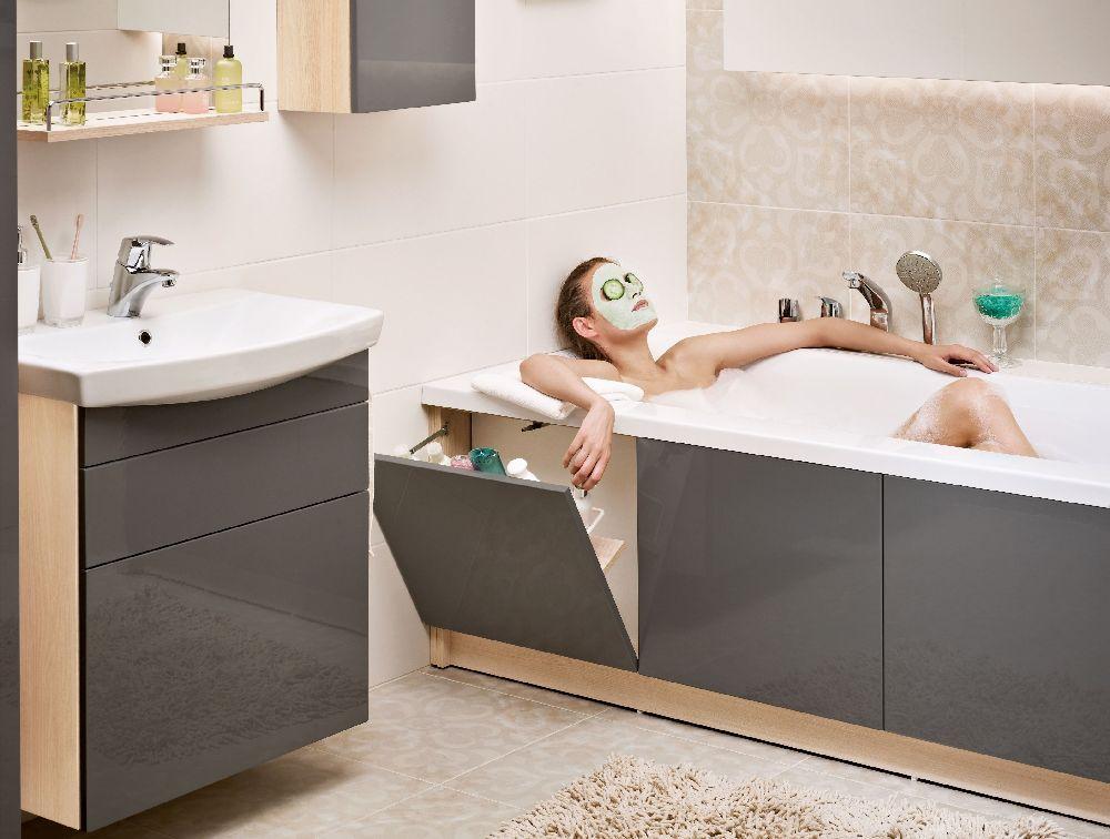 adelaparvu.com despre masca cu sertare pentru cada, model Smart Cersanit (1)