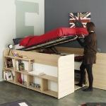 adelaparvu.com despre pat camera tineret cu dulap sub el, Foto roomtogrow
