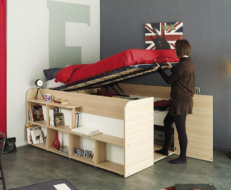 Ce zici de un pat care n loc de sertare are un ntreg dulap adela p rvu - Lit 1 place rangement ...