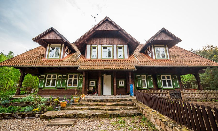 adelaparvu.com despre casa din lemn, csa si pensiune Polonia, Kolonia Mazurska Mierki (2)