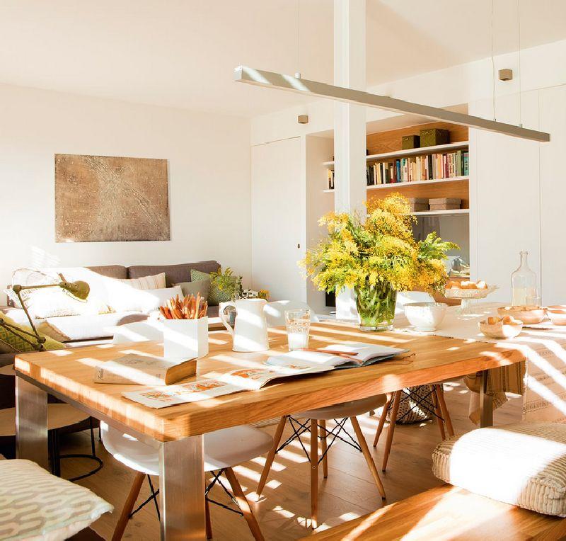 adelaparvu.com despre amenajare apartament 67 mp cu birou pe hol, design interior arh Mar Macos, Foto ElMueble (3)